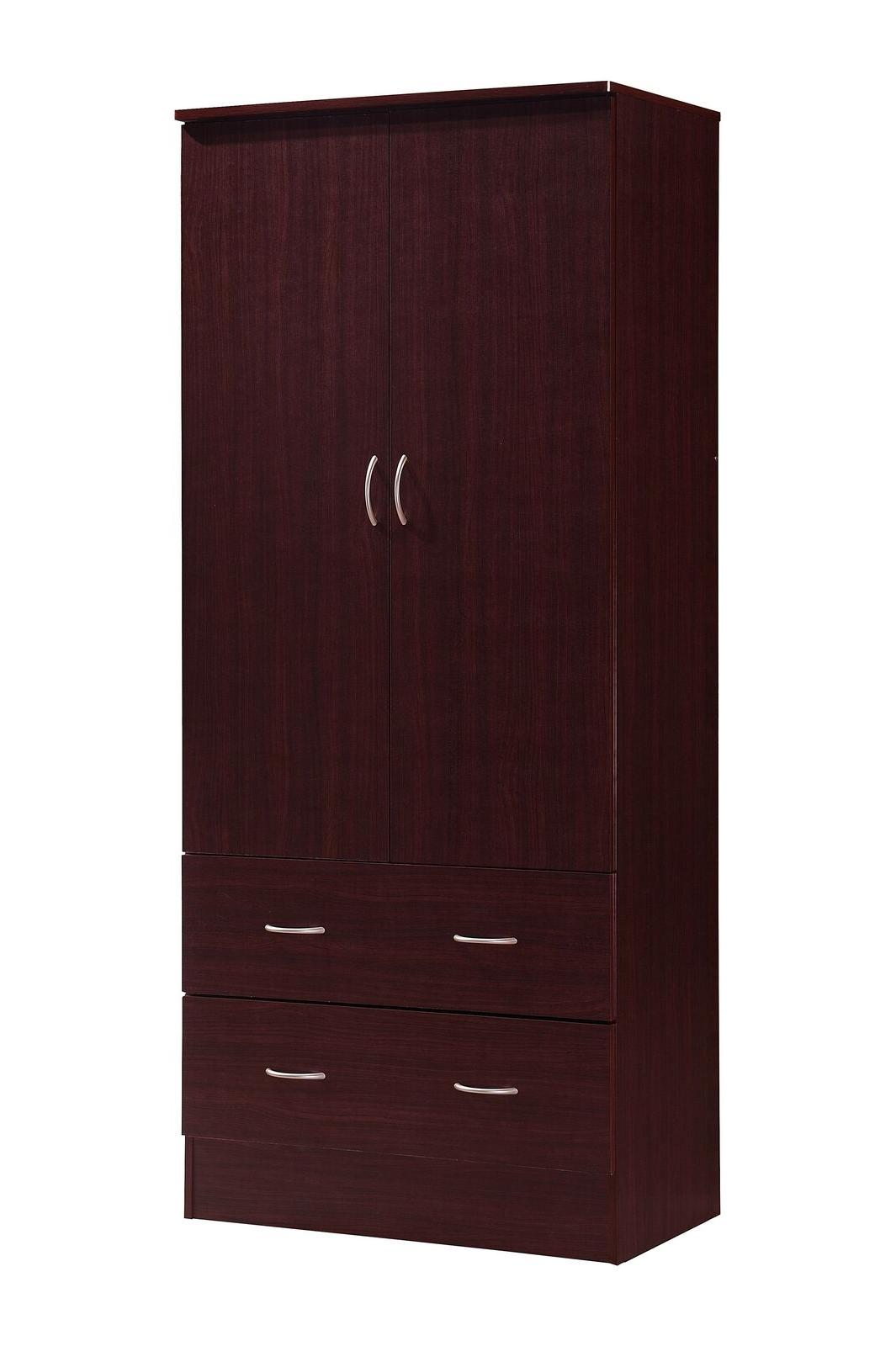 Bedroom Armoire mahogany wardrobe cabinet wood