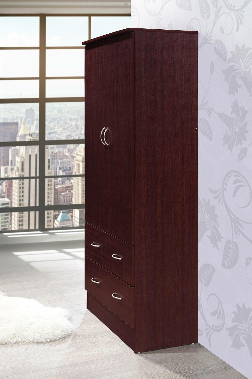 Bedroom Armoire 2-door mahogany closet cabinet