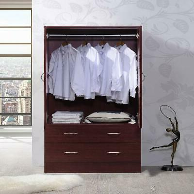 bedroom armoire 2 door 2 drawers wardrobe