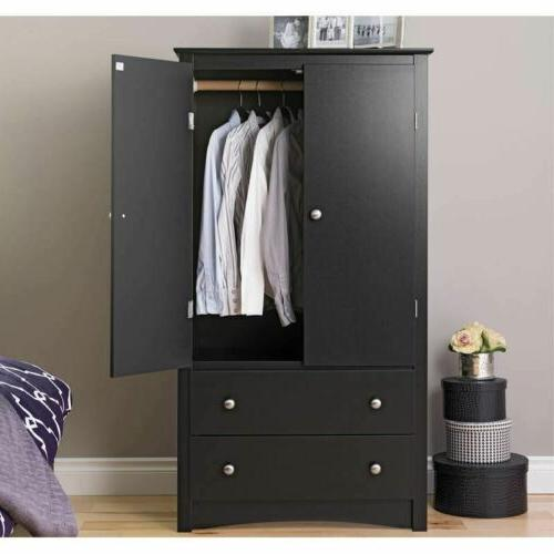 Black Wardrobe Cabinet Drawers