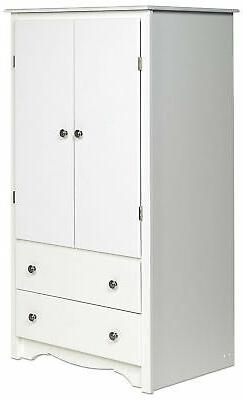 Brand New White Monterey 2 Door Armoire