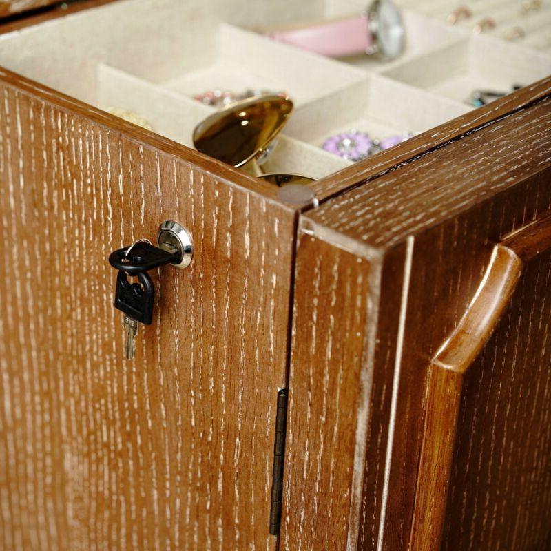 Hives Fully Standing Jewelry Armoire - Ceruse