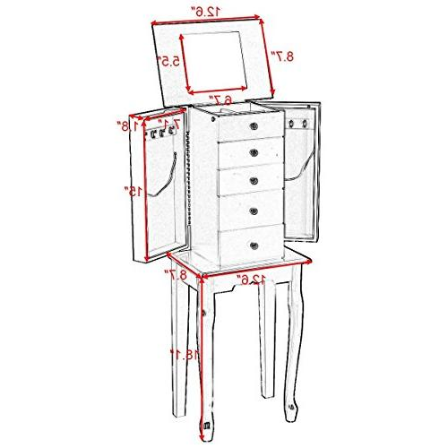 Giantex Cabinet Box Wood Chest Stand