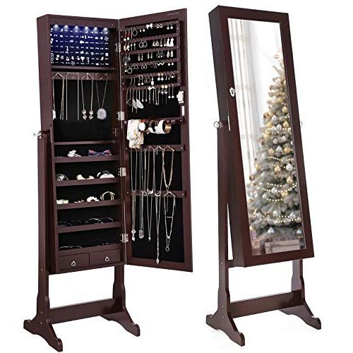 cabinet lockable standing armoire