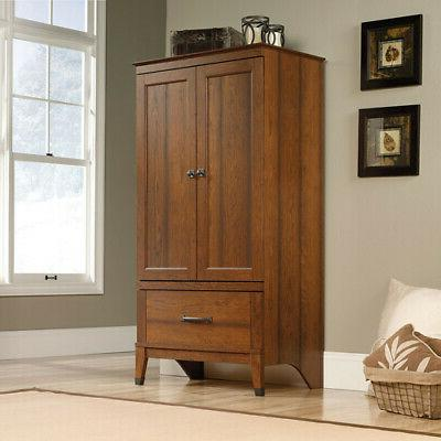 carson forge armoire wood wardrobe garment cabinet