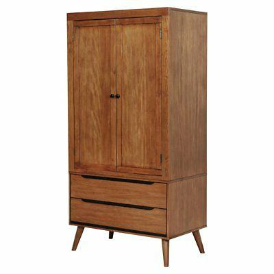 charem mid century modern double drawer armoire