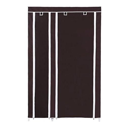 "SONGMICS 43"" Closet Fabric Quick and Easy Assemble Brown ULSF007K"