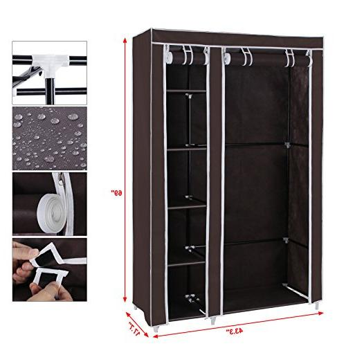SONGMICS Portable Closet Wardrobe with Non-Woven Fabric and Quick and Assemble ULSF007K