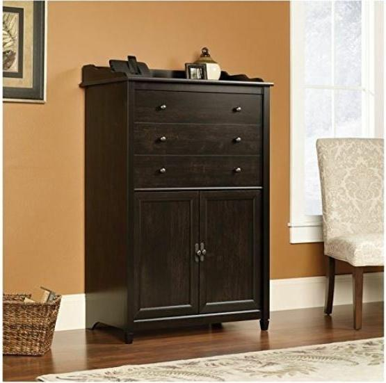 Computer Armoire Black Cabinet Office File Drawer