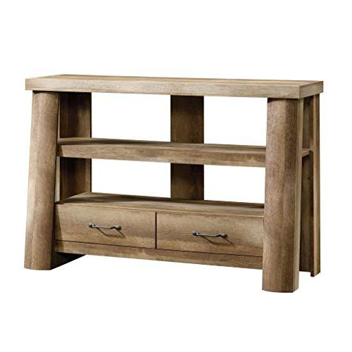 Sauder 416971 Boone Mountain Anywhere Console For Tv S Up To 47 Craftsman Oak Finish