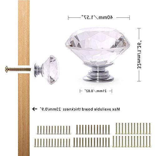 CZC Crystal Pull Handle Cupboard Knobs Shutters Dressers