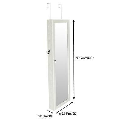 """47"""" Lockable Mount Mirrored Cabinet Armoire LED"""