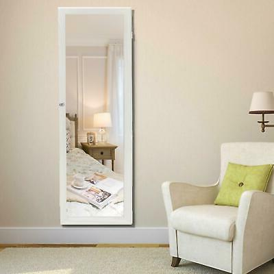 47 lockable wall mount mirrored jewelry cabinet