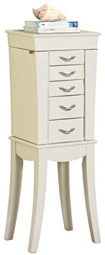 """Globe House Products GHP 13.25""""x10""""x36.5"""" White 5-Drawers &"""