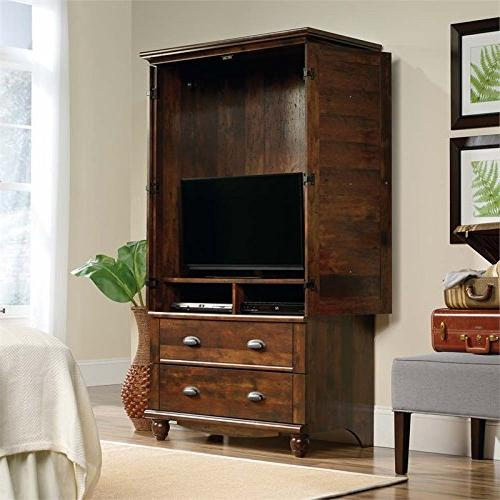 Sauder 420468 Harbor Armoire, for TV's to Curado Finish