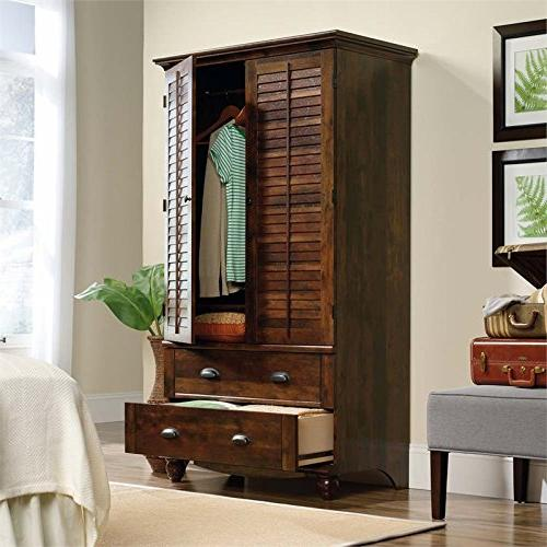Sauder 420468 Harbor View Armoire, TV's to Curado Finish