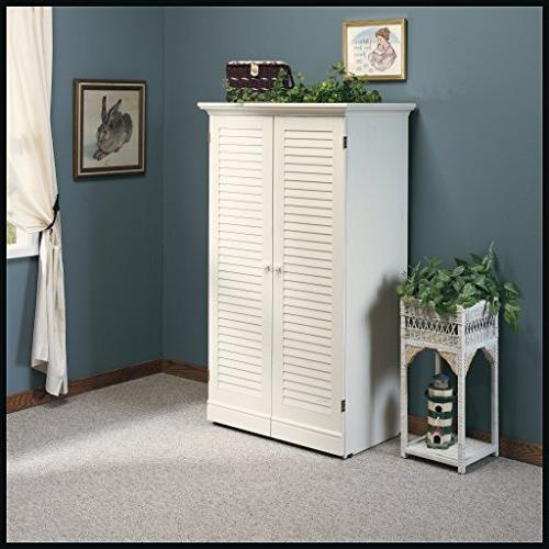 "Sauder Craft Armoire, x H: 61.58"", White Finish"