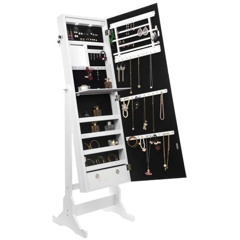 harper white full length jewelry cheval armoire