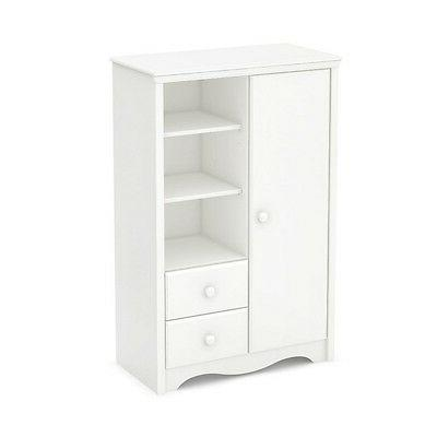 heavenly armoire with drawers pure white