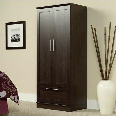 homeplus wardrobe armoire in dakota oak finish
