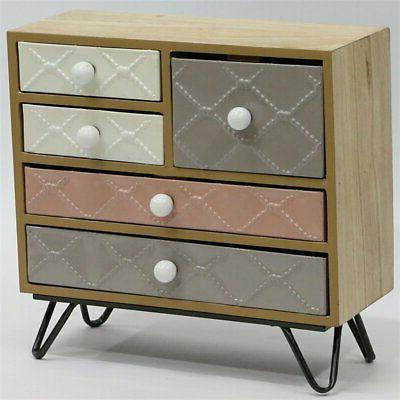 jeco 5 drawer jewelry armoire in natural