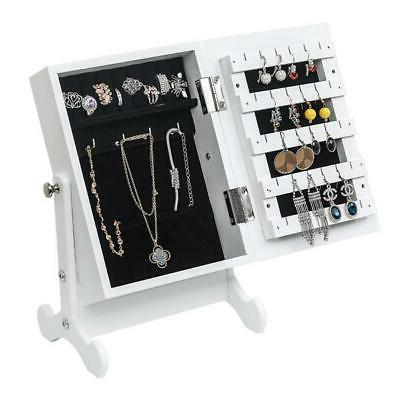 Jewellery Mirror Cabinet Top Armoire Jewelry Organiser Box