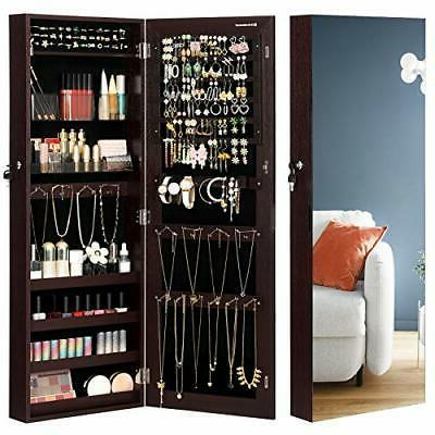 Jewelry Cabinet Armoire Lockable Wall Mounted Unit w/