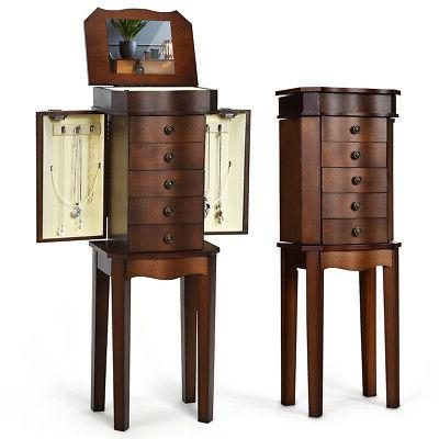 jewelry cabinet w drawers and mirror armoire