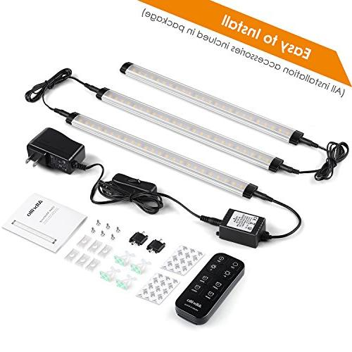 Albrillo Kitchen Cabinet Lighting Dimmable Under Counter Lights for Shelf, Cupboard, 900lm, Nature White 5000K,