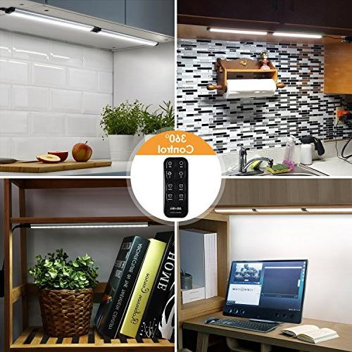 Albrillo Cabinet Remote Dimmable for Shelf, Cupboard, 900lm, Nature White 3 Pack