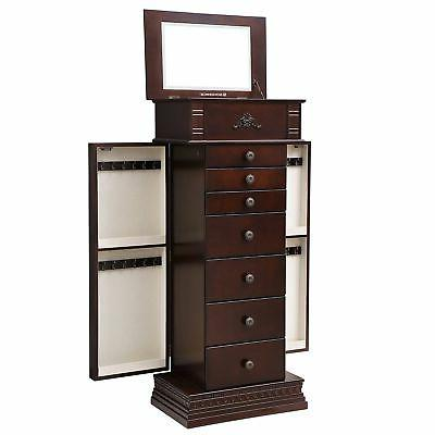 large jewelry armoire cabinet standing storage chest