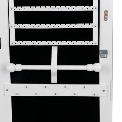 Large Jewelry Lockable Armoire Mounted Mirror