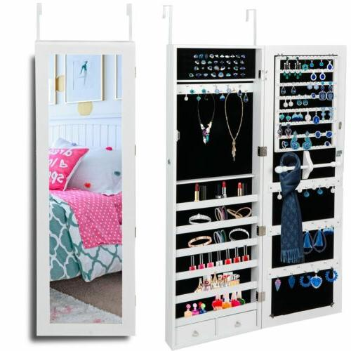 large jewelry box cabinet lockable armoire wall