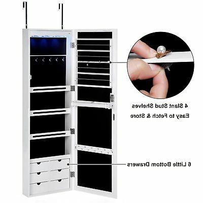 SONGMICS Jewelry Armoire with 6 Lockable Door