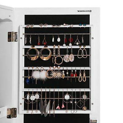 SONGMICS LED Cabinet Armoire with 6 Drawers Lockable