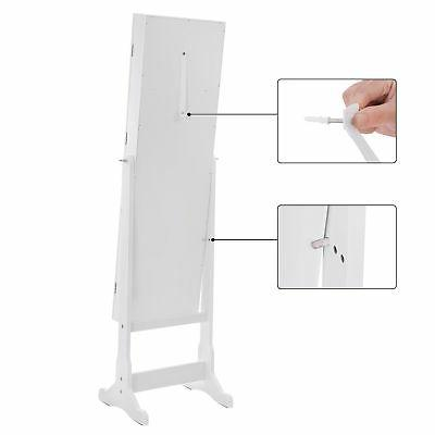 SONGMICS LED Cabinet Lockable Standing Armoire Organizer