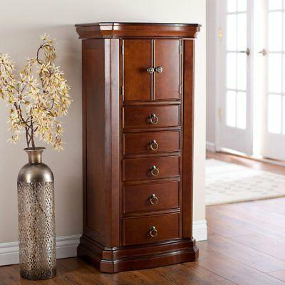 Belham Living Luxe 2-Door Jewelry Armoire - Finish, Brown