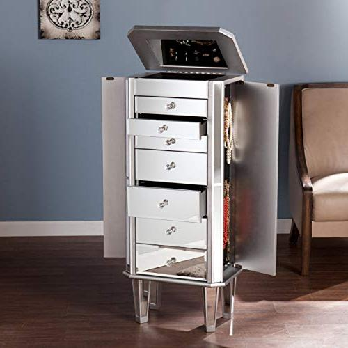 millicent mirrored armoire