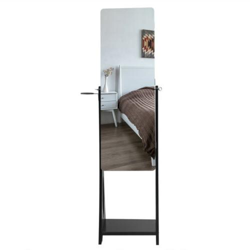 Mirrored Armoire Mirror Organizer Ring W/Stand Led