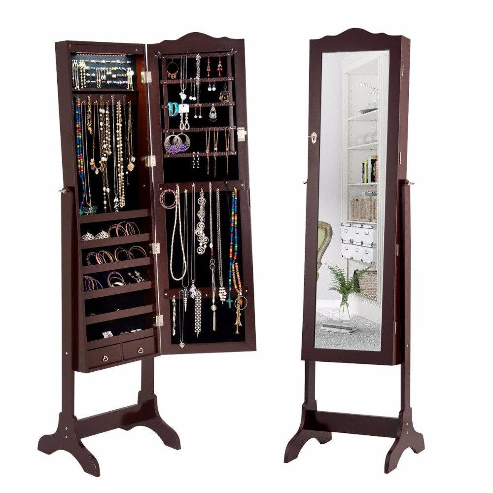 mirrored jewelry cabinet font b armoire b