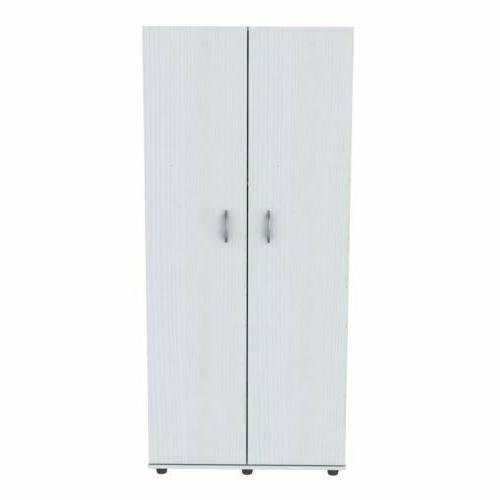 Shelves Mobile Storage Armoire Wardrobe