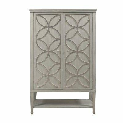 modern armoire with carved silver leaf overlay