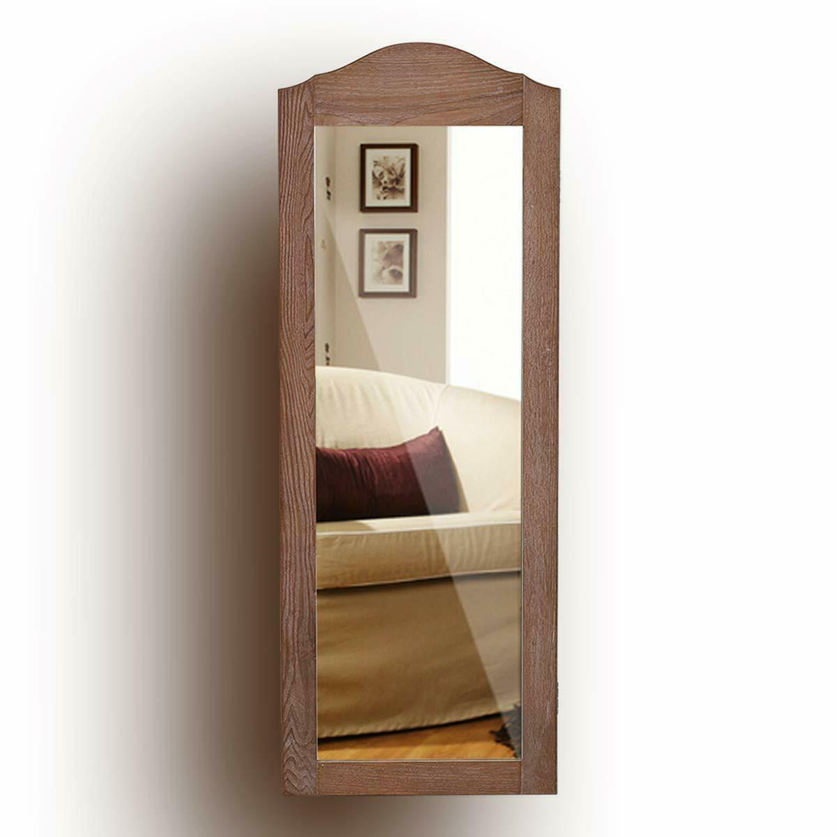New Jewelry Armoire Cabinet Wall Mounted with Mirror Full Le