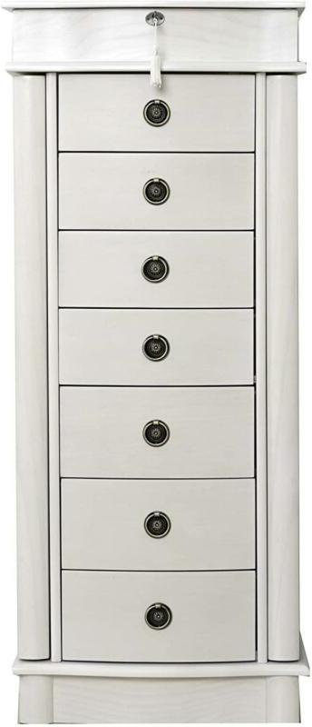 Hives & Honey Nora Standing Jewelry Armoire - White