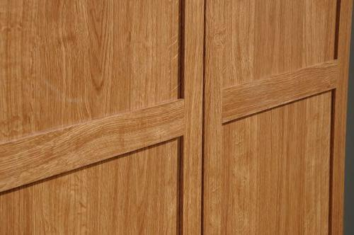 Oak Finish Armoire Wardrobe Storage Cabinet Closet Drawers