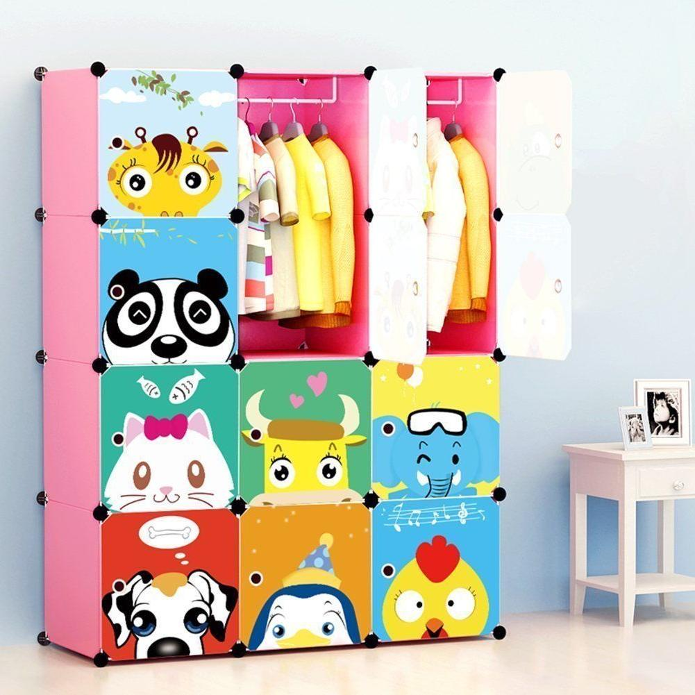 MAGINELS Portable Kids Bedroom Armoire