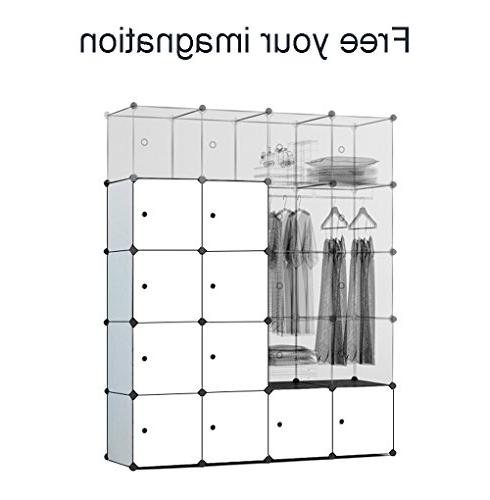 MEGAFUTURE Modern Portable Closet for Hanging Armoire, Modular Cabinet for Space Ideal Organizer