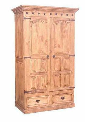 Rustic Primo Armoire Western Cabin Lodge Storage Real Solid