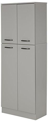 Soft Gray Food Pantry South Shore Axess 4 Doors Food Storage