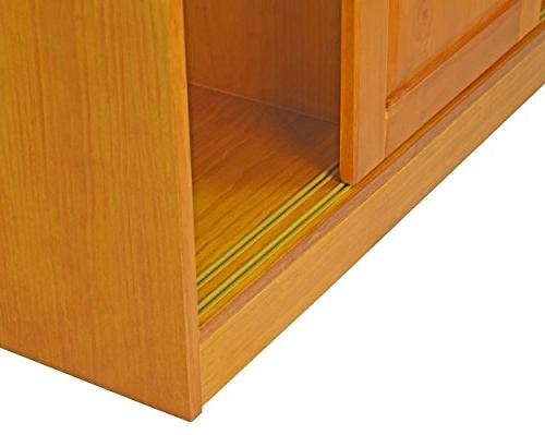 100% Solid Door Imports, Honey Pine 1 Full/5 Shelves, 1 Clothing Rod Additional Full Sold Separately.